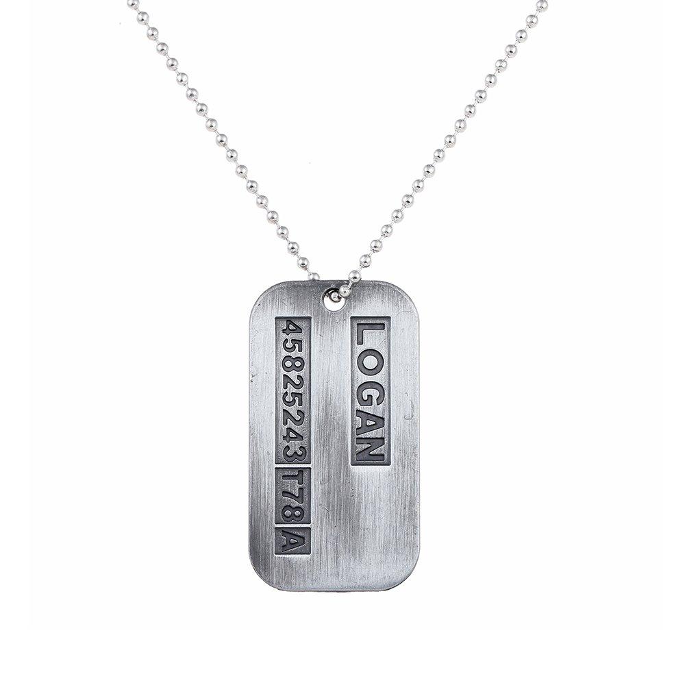 Lureme Wolverine X-men James Logan Army Military Metal Pendant Chain Dog Tag Necklace (nl005373) Yida