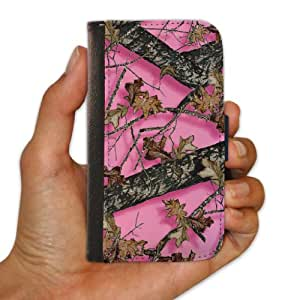 Samsung Galaxy S3 Protective Wallet Case - Pink Hunting Camouflage