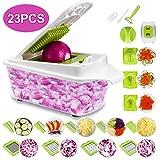 16 in 1 Vegetable Chopper Food Chopper Onion Chopper Mandoline Slicer w/Large Container