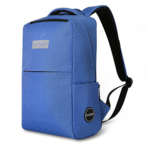 CUTOTI Business Water Resistant Laptop Backpack Fits Under 17-Inch Laptop,Blue
