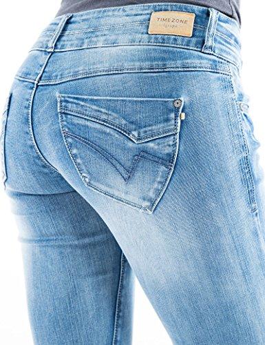 3499 Bleach Blu Slim Donna Timezone Jeans Wash Stretch cool Super Enya xTnq8AUv