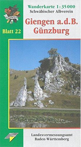 Giengen a.d.B. - Günzburg: Wanderkarte 1:35.000