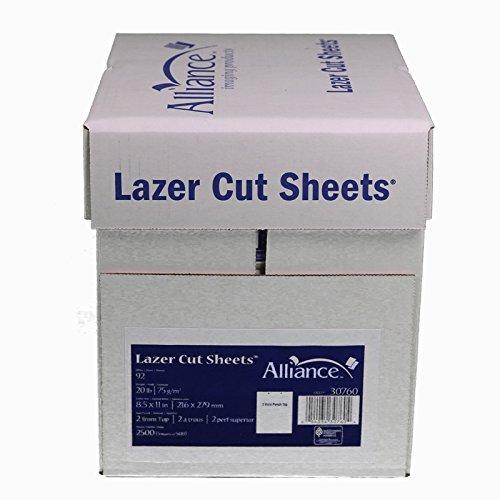 Laser Cut Sheet Paper 8-1/2'' x 11'', 2 Hole Punch Top 20 lb. 2500 Sheets per Carton, 80 Cartons per Pallet, Per Pallet Pricing