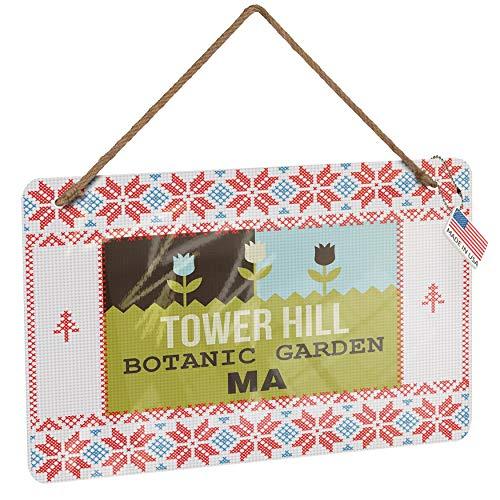 Botanic Garden Tower - NEONBLOND Metal Sign US Gardens Tower Hill Botanic Garden - MA Vintage Christmas Decoration