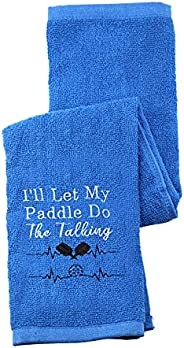Pickleball Towel I'll Let My Paddle Do The Talking Embroidered Sports Teem Hand Towel Gift for Pickleball