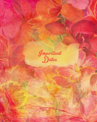 """Important Dates: Floral Design Perpetual Calendar 