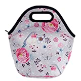 Acelane Neoprene Insulated Lunch Bag Artists Tote Design for Women Kids and Girls Large Pack Size 20 * 15 * 16 cm / 8 * 6 * 6.3 in (A2)