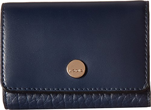 Leather French Classic Handbag (Lodis In The Mix RFID Mallory French Purse (Navy))