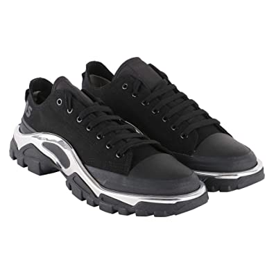 finest selection b52c9 6bde6 adidas by RAF Simons Mens by RAF Simons Detroit Runner Black Sneaker 6,5(