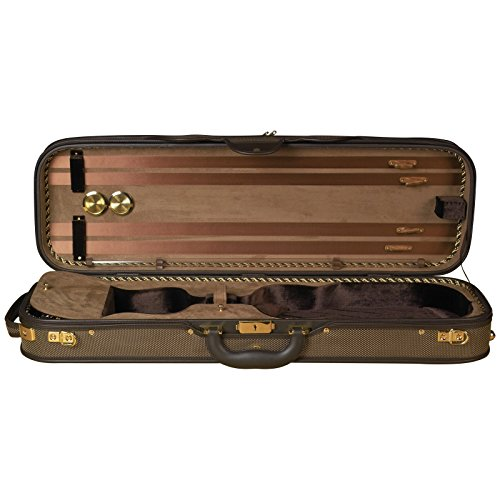 Baker Street BK-4020 Luxury Violin Case - Oblong by Baker Street Products