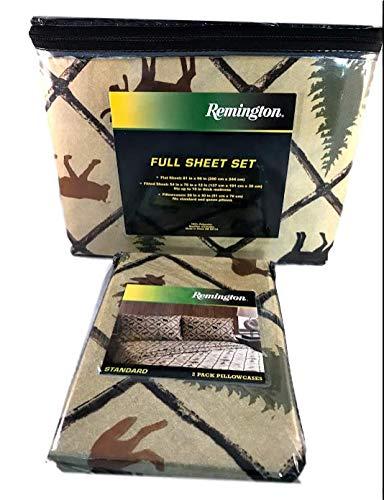 ハンティングシーツセット 鹿のムースフィッシュフォールキャビンデコ ボーナス付き お揃いの枕カバー2枚付き B07KQLNBJ7