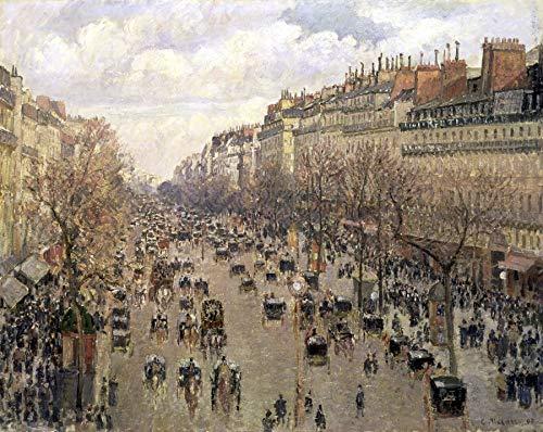 - Camille Pissarro Boulevard Montmartre, Afternoon Sun 30
