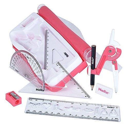 Helix matem/áticas conjunto y dise/ño color rosa
