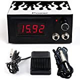 LVYY Alta Calidad Tattoo Power Suit LCD Digital Tattoo Power Foot Switch Fuente De Alimentación 100-240V (Color : Blanco)