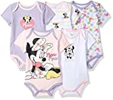 Apparel : Disney Baby Minnie Mouse 5 Pack Bodysuits