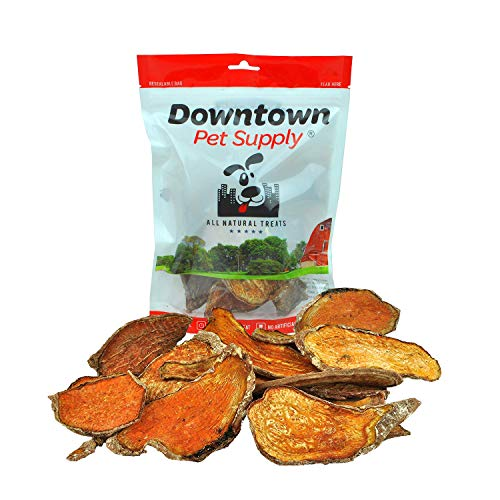 Downtown Pet Supply All Natural Dehydrated Sweet Potato Dog Chew Treats Made in USA, Single Ingredient, No Grain, Human Grade Snacks for Small, Medium and Large Dogs or Cats (8 oz) Dr Chew Sweet Potato