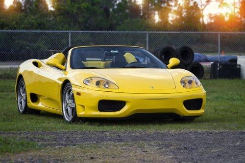 Ferrari 360 F360 Spider Yellow Right Front HD Poster Super Car 36 X 24 Inch Print -