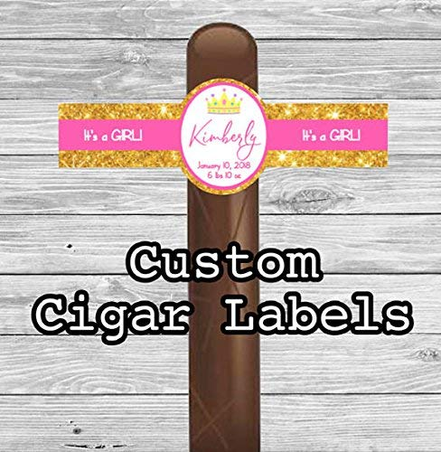 Its a Girl Party Favors Cigar band Princess Set of 16 Personalized Cigar Labels Custom Baby Shower New Baby Cigar Labels Gift Crown
