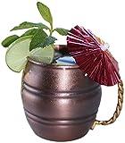 100% Copper Antique Moscow Mule Mug / Beer Mug - Stylish and Unique - BONUS Recipe Card Included - Amazing Ayurvedic Health Benefits - 16 Oz Capacity