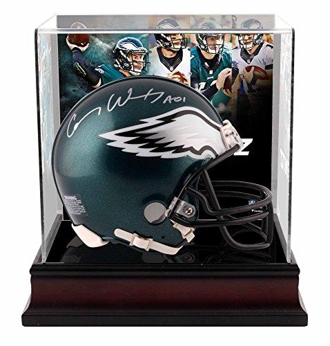Carson Wentz Philadelphia Eagles Autographed Riddell Mini Helmet with Deluxe Mini Helmet Case - Fanatics Authentic Certified (Autographed Philadelphia Helmets Eagles)