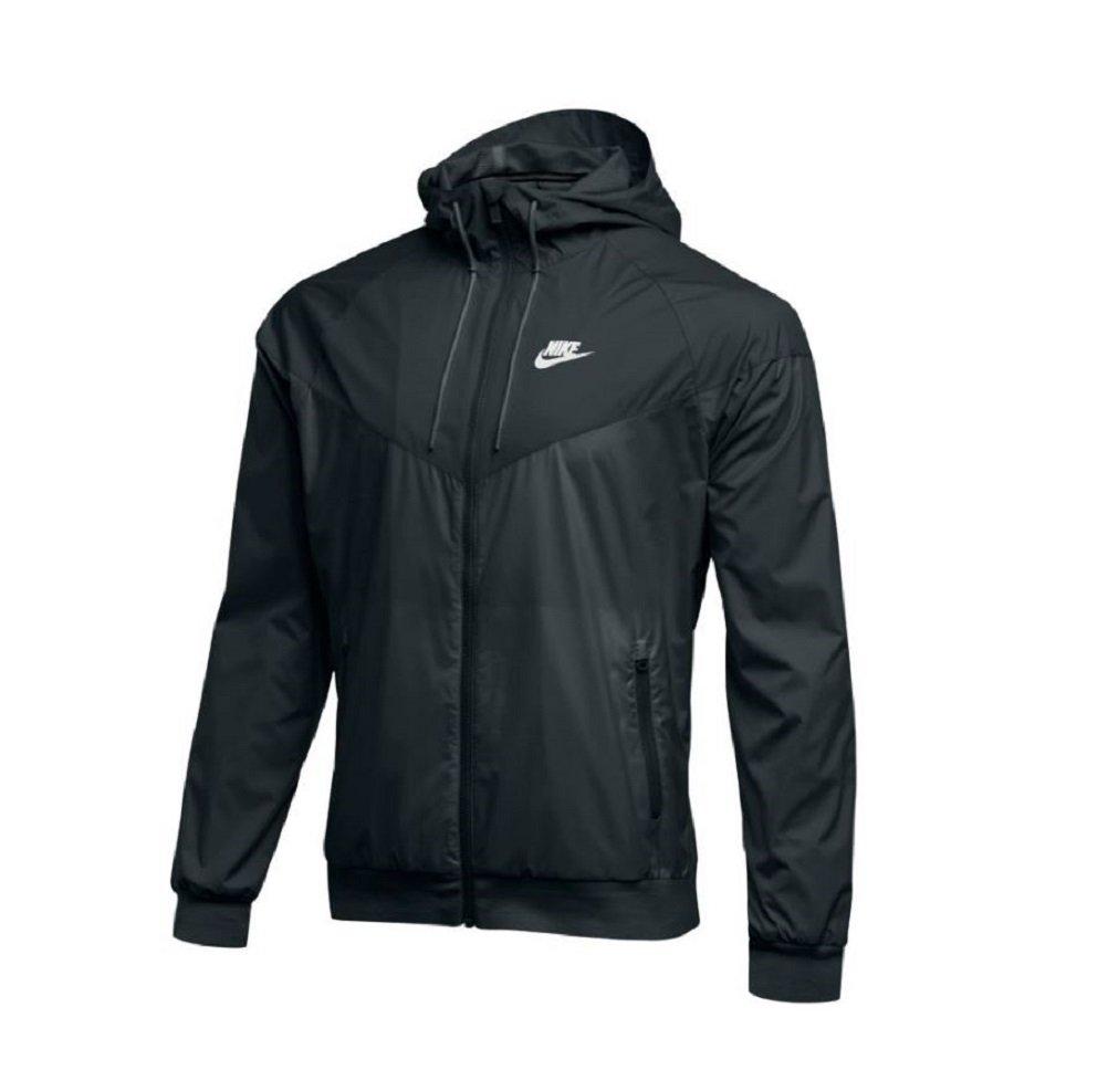 NIKE Mens Workout Jacket (Large, Black/Black/Black/White) by NIKE