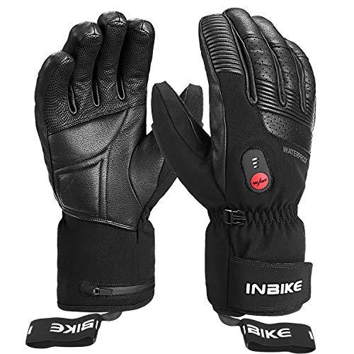 INBIKE Verwarmde Handschoenen Direct Verwarmde Winterhandschoenen van Geitenleer voor Motor-, Fiets-, Ski- en andere…