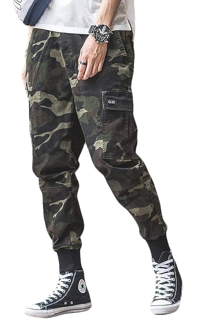 Gocgt Mens Wild Camo Cargo Pant Camo Cargo Work Pant Cargo Trousers