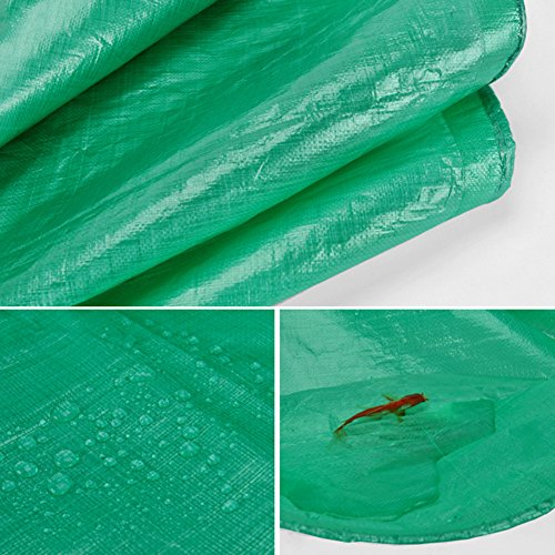Tarpaulin Tarpaulin Sheet Mouldproof Hardy Canopy Boats Covers Sunscreen Anti-aging Frost Resisting -180g/m², Thickness 0.38mm, Green, 9 Sizes Optional, Size Customized (Size : 3 x 3m) by Hw Ⓡ Tarpaulin (Image #5)