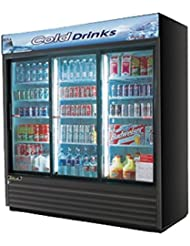 Turbo Air TGM69RB 69 cu. ft. Glass Door Merchandiser Refrigerator with Energy Conserving Fan Control Double Pane Glass Doors High Density PU Insulation and Adjustable Shelves: