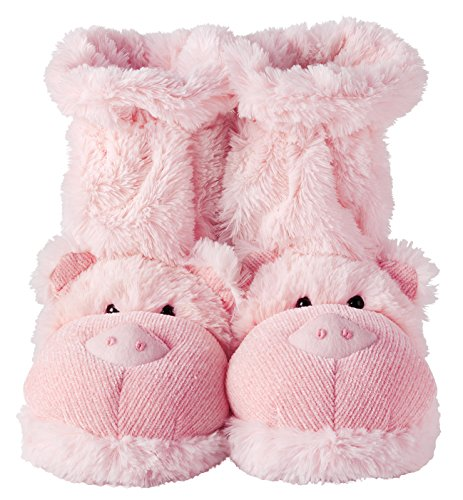 Fuzzy Friends Slippers Pig 10 Quot By Aroma Home Large Pink
