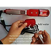 professional red magic shine ionic steam hair straightener flat iron 110V-240V European plug