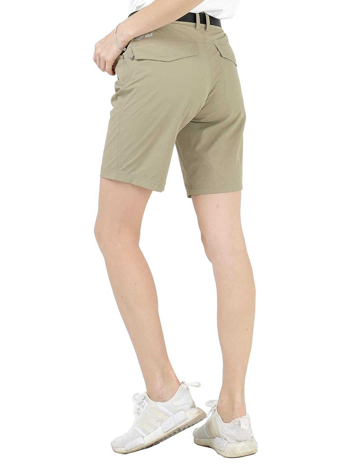 MIER Womens Quick Dry Outdoor Shorts Lightweight Stretch Nylon Hiking Shorts with 5 Pockets Water Resistant