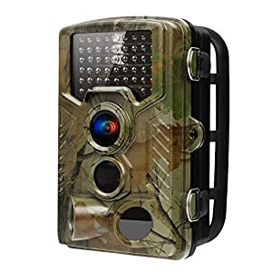 Deer Camera Trail Camera 16MP 1080P HD IR Night Vision Wildlife Motion Activated Camera with IP56 Waterproof 0.2s Trigger Time and 2.4 inch LCD Screen Wildlife Camera