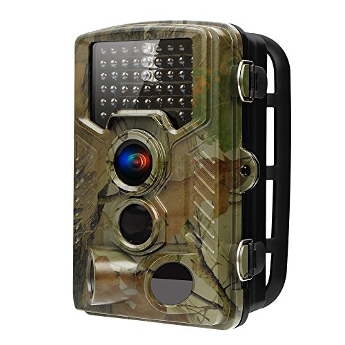 RAINBOWDAY Deer Camera Trail Camera 16MP 1080P HD IR Night Vision Wildlife Motion Activated Camera with IP56 Waterproof 0.2s Trigger Time and 2.4 inch LCD Screen Game Camera