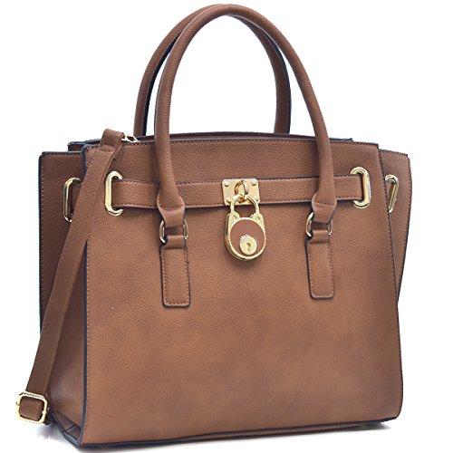 Dasein Loop Handle Faux Croco Leather Laptop, Tablet, iPad Bag Satchel Briefcase Shoulder Handbag Purse with Removable Shoulder Strap