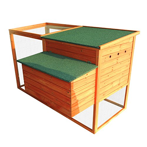 Pawhut 64'' Chicken Coop Hen House w/ Nesting Box and Outdoor Run by PawHut (Image #2)