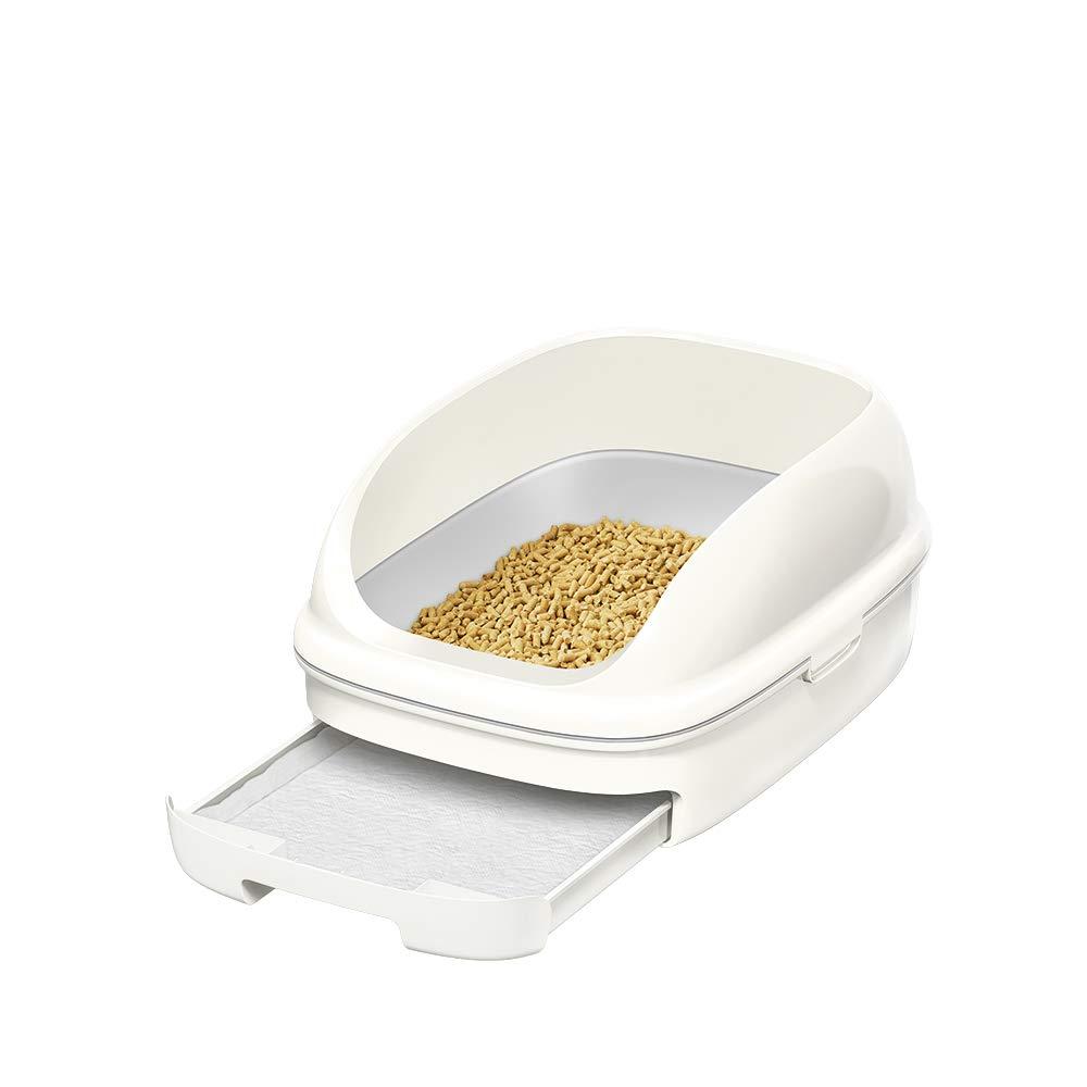 【Amazon.co.jp 限定】ニャンとも清潔トイレ 猫用トイレ本体 オープンタイプセット クールホワイト