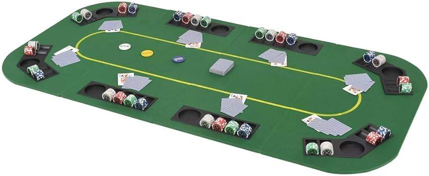 binzhoueushopping Mesa de Poker Plegable Profesional para 8 ...
