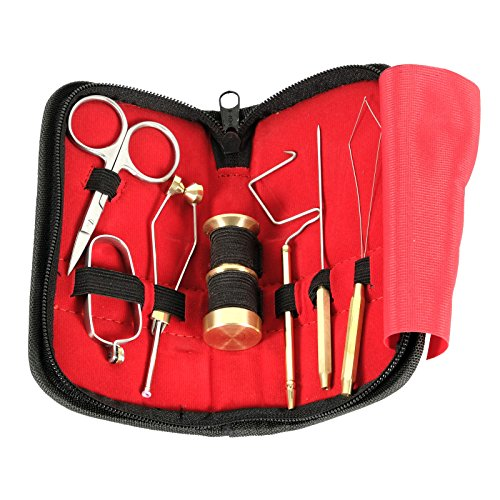 SF Fly Fishing Tying Tools Gear Gift Set with Fly Box Combo