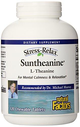 Natural Factors Suntheanine 100 mg, comprimés à croquer, comte 120