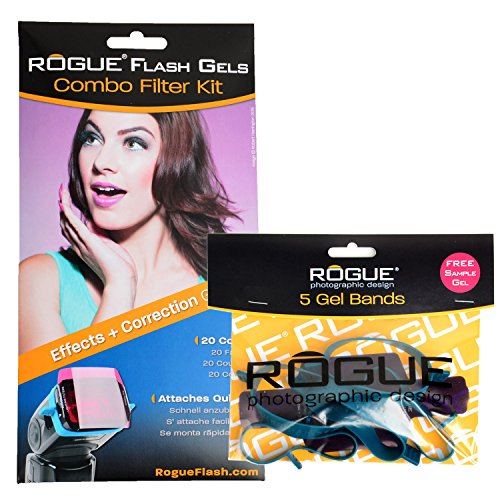 Rogue Flash Gels Combo Filter Kit + 5-Pack Rogue Gel Bands by Rogue Photographic Design