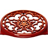 Le Creuset 9 in. Deluxe Round Trivet - Flame Flame 9-Inch