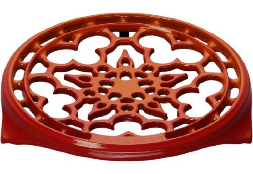 Le Creuset Enameled Cast-Iron 9-Inch Deluxe Round Trivet, Flame -
