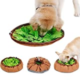 [Upgraded] 2 in 1 Dog Snuffle Mat Slow Feeding Bowl,Muswanna Dog Sniffing Pad