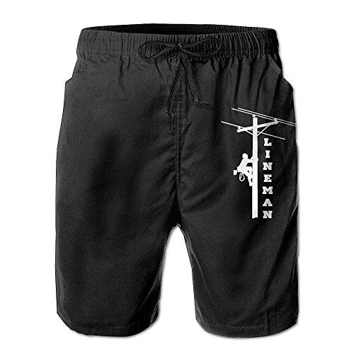 I Love My Lineman Men's Swim Trunks Casual Shorts Beach Shorts Board Shorts Outdoor Shorts Medium