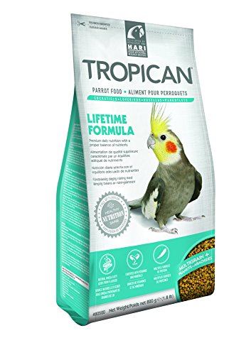 Tropican 1.8-Pound Lifetime Maintenance Cockatiel Granules, Standup Zip Bag