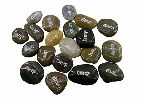 Wholesale Inspirational Word River Stones Etched Bulk Lot 100Pcs Big Stones Courage