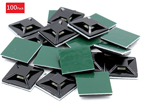 iExcell 100Pcs Black Adhesive Holders product image