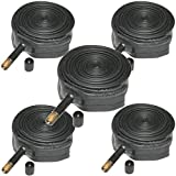 SDJ Sports Bike Inner Tubes - Pack of 5 (Mountain, Road, Kids Bike Tubes with Schrader or Presta Valves) (24' Kids Bike Tubes (Schrader))