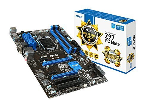 Price comparison product image MSI Intel Z97 LGA 1150 DDR3 USB 3.1 ATX Motherboard (Z97 PC Mate)